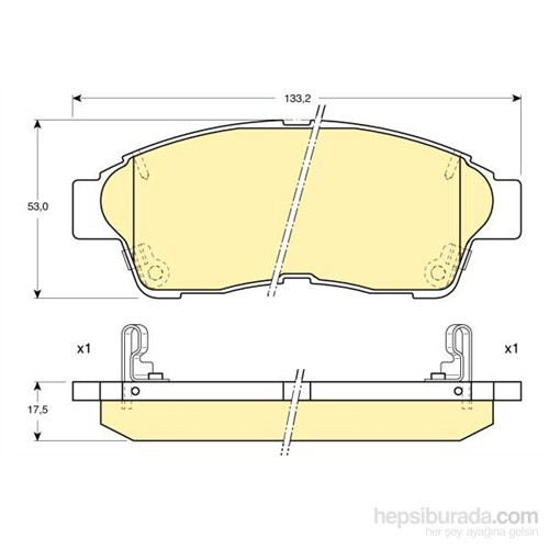 Bosch - Fren Balatası Ön Toyota Corolla A101 İkaz Kablolu - Bsc 0 986 Tb2 222