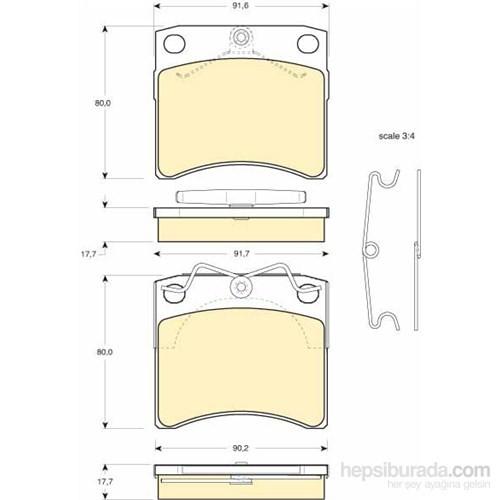 Bosch - Fren Balatası Ön (Vw Transporter/Caravelle T4 (09/90-) [Wva 20652] - [ 91,6X80x17,7 Mm ] - - Bsc 0 986 Tb2 669