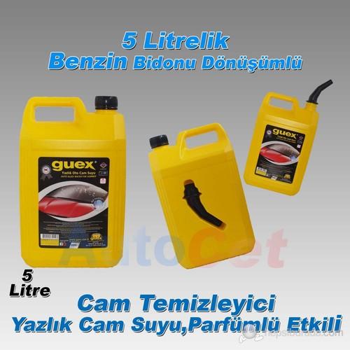 Guex Yazlık Cam Suyu Parfümlü,Cam Temizleyici 5 Litre ( BENZİN BİDONU Dönüşümlü ) (11748)