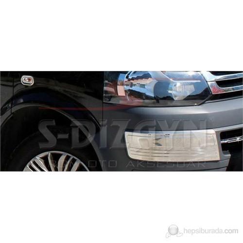 S-Dizayn Vw T5 Caravelle Ön Tampon Kaşı 2 Prç. P.Çelik (2010>)