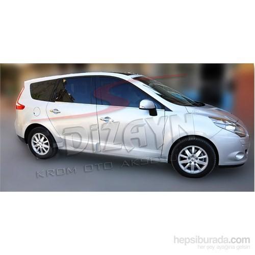 S-Dizayn Renault Scenic 3 2009> Model Ve Üzeri Cam Çıtası 4 Prç. Krom P.Çelik