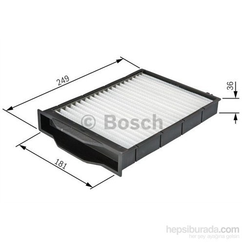 Bosch - Polen Filtresi (Renault : Megane Iı 1.4) - Bsc 0 986 Tf0 042