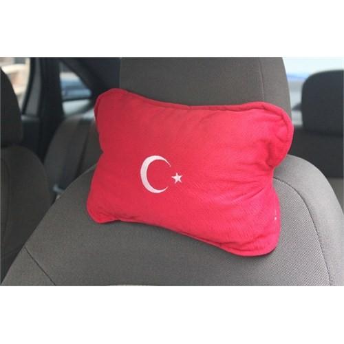 S-Comford Ortapedik Terletmez Üşütmez Boyun Yastığı Kırmızı Türk Bayrağı