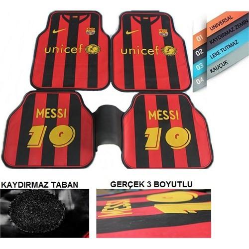 Schwer S- Sport 3D Paspas 5 Parça Kauçuk Paspas Messi