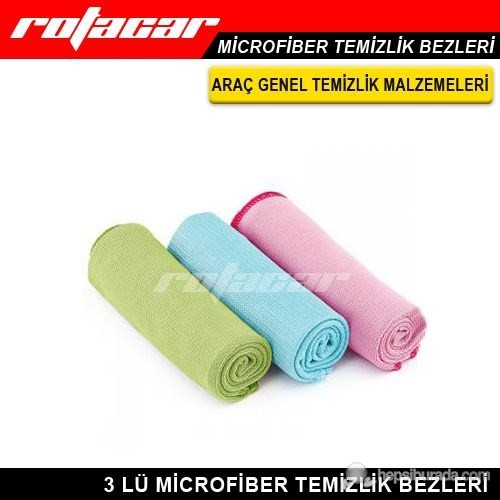 Rotacar Microfiber Temizlik Bezi 3 Adet 30cmx30cm