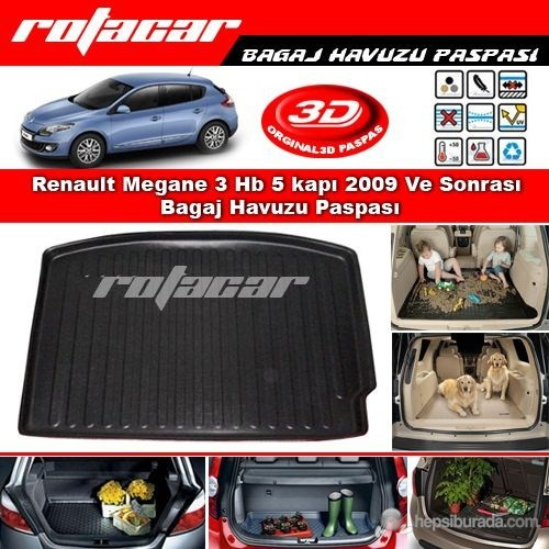 Renault Megane 3 HB Bagaj Havuzu (2009-2015 Modeller)
