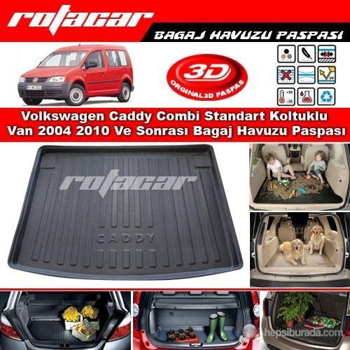 Volkswagen Caddy Combi Standart Koltuklu Van 2004 2010 Bagaj Havuzu Paspası BG0202