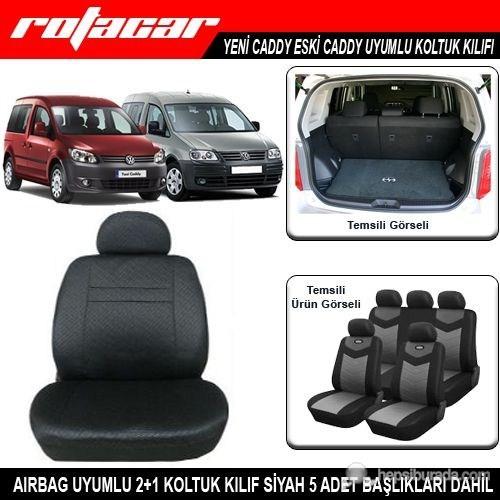 Volkswagen Caddy Uyumlu Koltuk Kılıfı Siyah Kket001