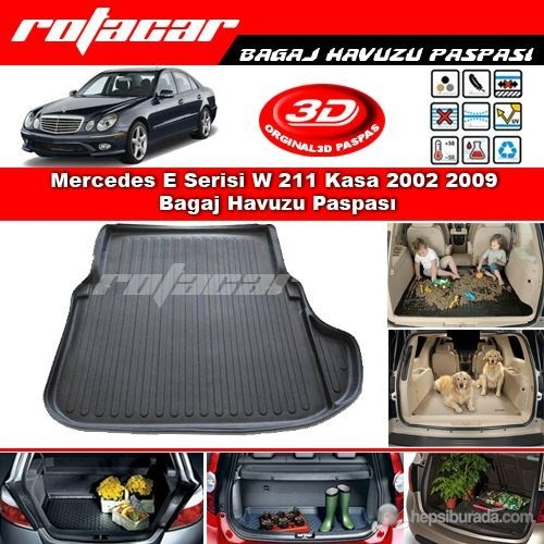 Mercedes E Serisi W 211 Kasa 2002 2009 Bagaj Havuzu Paspası BG0110