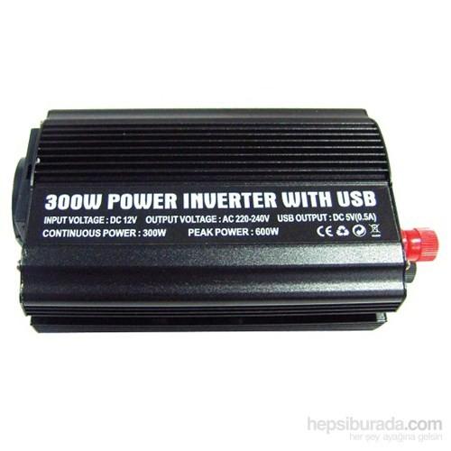Space inverter Dönüştürücü USB'li 12V-220V 300watt