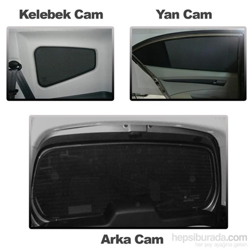 Hyundai Accent Perde 2002-2006 3 Cam