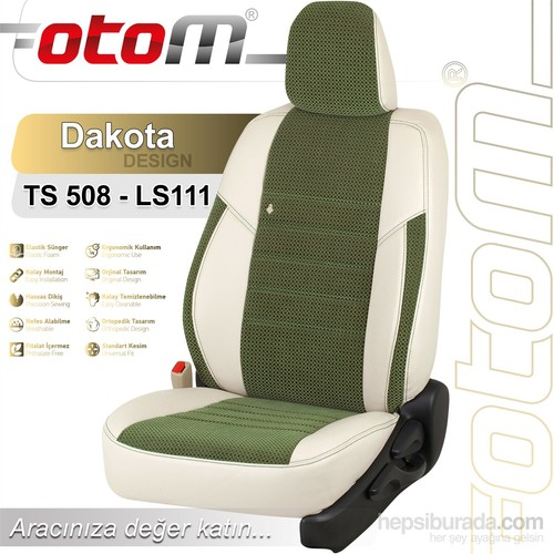 Otom Skoda Fabıa 1999-2007 Dakota Design Araca Özel Deri Koltuk Kılıfı Yeşil-101