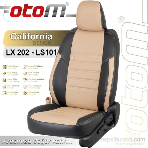 Otom Toyota Rav4 2000-2005 California Design Araca Özel Deri Koltuk Kılıfı Bej-101