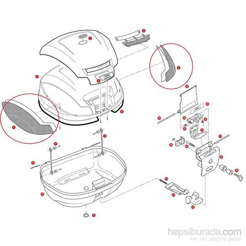 Gıvı Z1394 Çanta Reflektörü Set E470