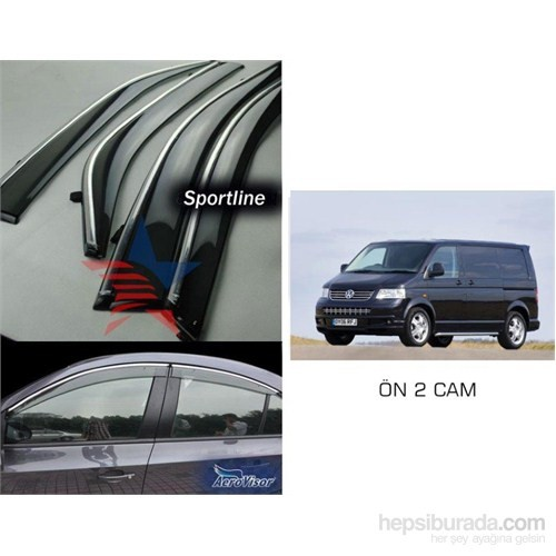 Sportline MUGEN STYLE Nikelaj Hatlı VW TRANSPORTER T5 KASA Ön Rüzgarlık Seti 42xb056