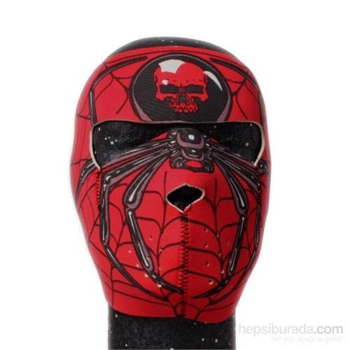 Tex 1312 Full Face Neopren Örümcek Desenli Maske
