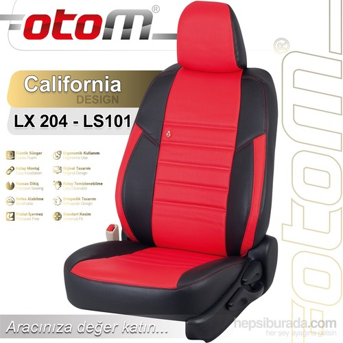 Otom Bmw X Series 3 2014-Sonrası California Design Araca Özel Deri Koltuk Kılıfı Kırmızı-108