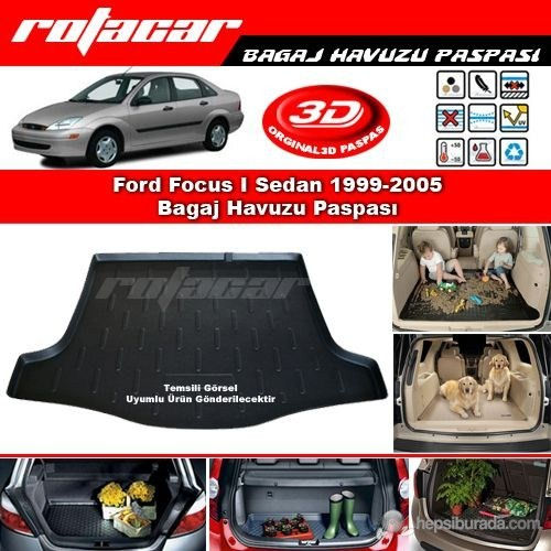 Ford Focus I Sedan 1999 2005 Bagaj Havuzu Paspası BG065