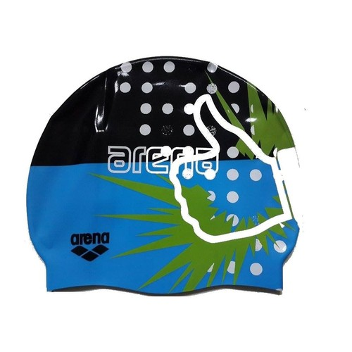Arena Print Cap Pix Blue Yüzücü Bonesi