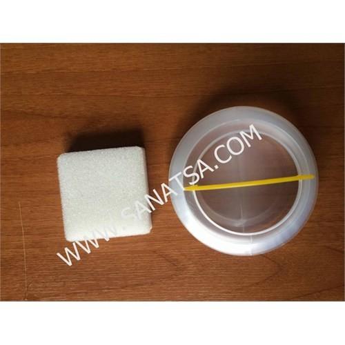 Lutart Plastik Fırça Temizleme Kabı Süngerli 10 Cm