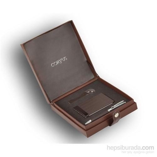 Corvus Gift Anahtarlık, Kartvizitlik, Tükenmez Kalem Hediye Seti