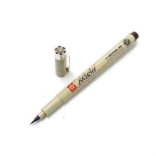 Sakura Pigma Brush Pen Çizim Kalemi Fırça Uçlu Dark Sepia Koyu Kahve