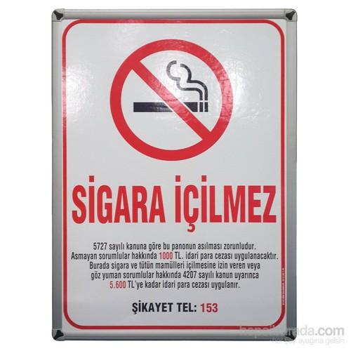 Akyazı 50x70 Sigara İçilmez Panosu (Aliminyum Çerçeve)