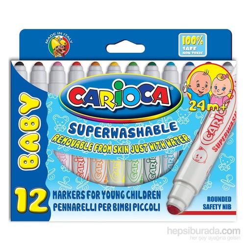 Carioca Yıkanabilir Keçeli Boya Kalemi 12`Li