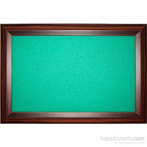 Akyazı 90x200 Geniş Ahşap Çerçeve Renkli Pano (Yeşil)
