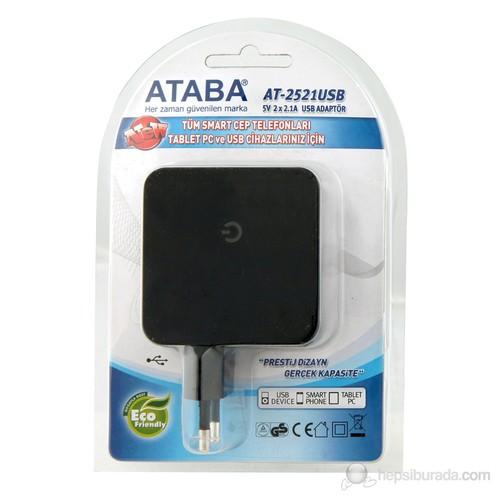 AT-2521USB Çift USB Portlu Şarj Aleti