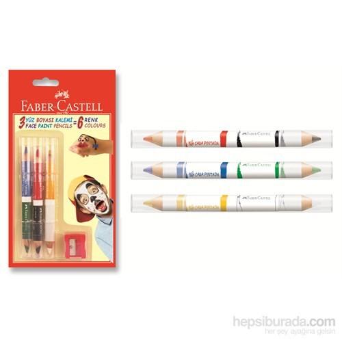 Faber-Castell Yüz Boyası Kalemi 6 Renk (5170210306)