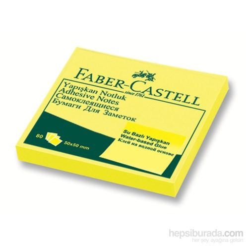 Faber-Castell Yapışkan Notluk 50x50mm Fosforlu Sarı (5089565841)
