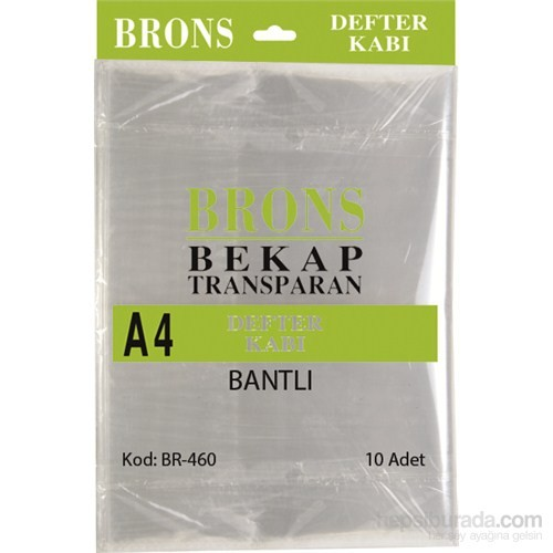Brons Br-460 Hazır Defter Kabı A4 Şeffaf Bantlı 10 'lu Set