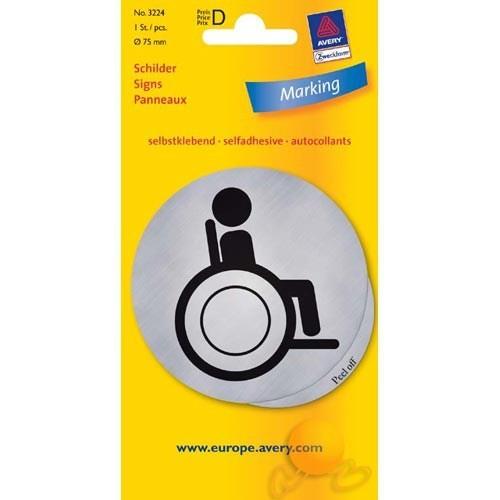 Avery Wc Engelli Etiketi Gümüş 1 Adet