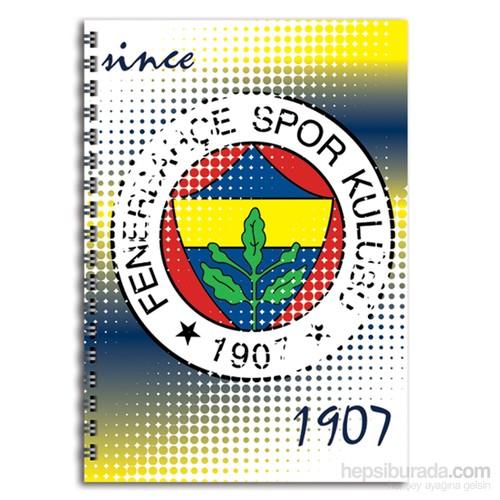 Keskin 320121F Fenerbahçe Plastik Kapak Spiralli A4 80 Yaprak Çizgili
