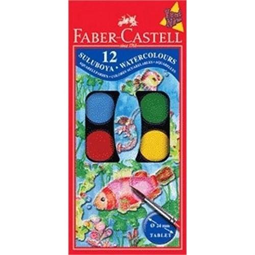 Faber-Castell Büyük Hazneli Suluboya 12 Renk 190013