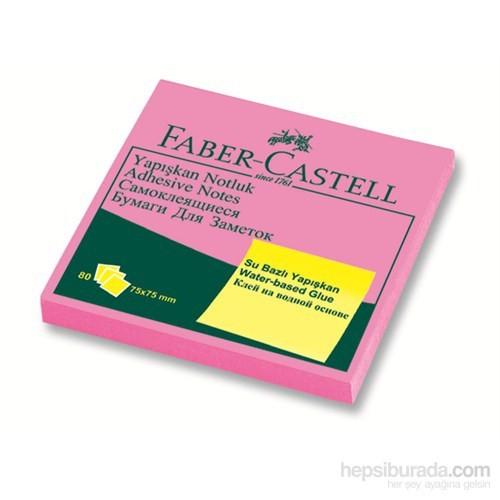 Faber-Castell Yapışkan Notluk 75x75mm Fosforlu Pembe (5089565432)