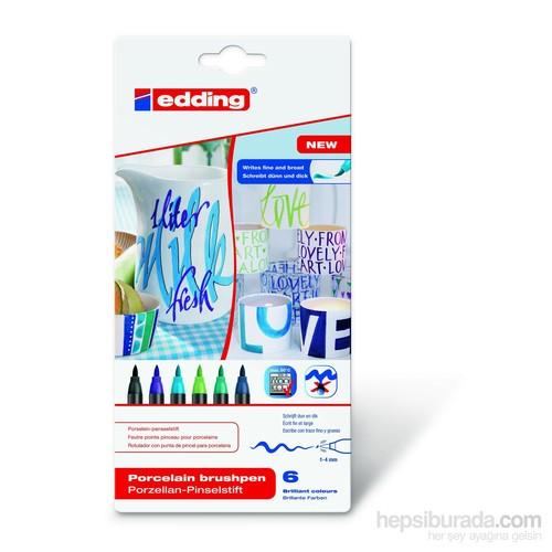 edding 4200 Porselen Kalemi (6'lı Soğuk Renkler)