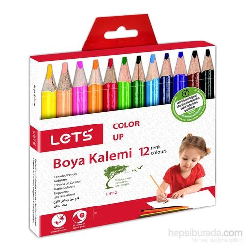 Lets L4112 12 Renk Yarımboy Boya Kalemi