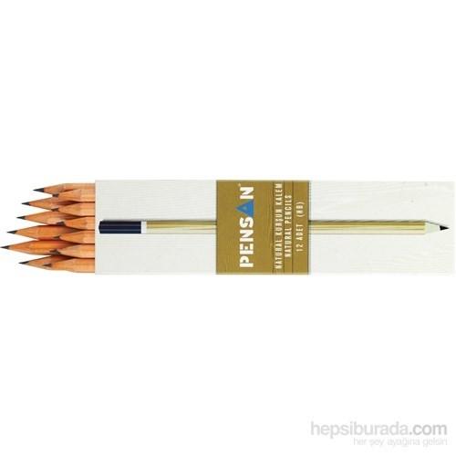 Pensan Natural Mercanlı Kurşun Kalem 12'Li Askılı