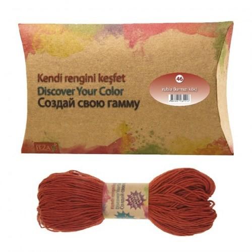 Feza Hand Dyed Yarns Kendi Rengini Keşfet Rubia( Kırmızı Kök) Organik İplik Boyası No:46