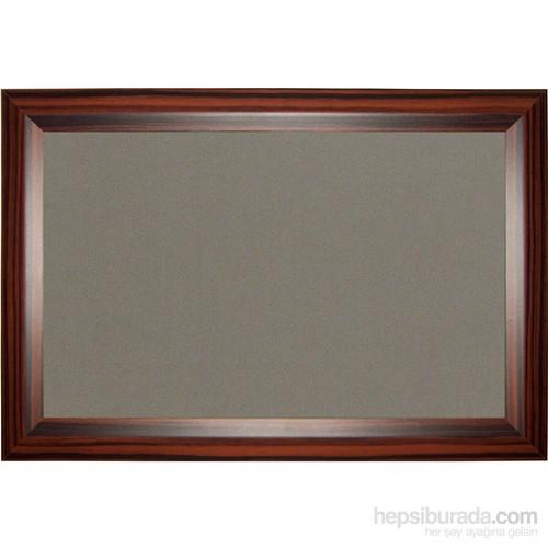 Akyazı 90x120 Geniş Ahşap Çerçeve Kumaşlı Pano (Gri)