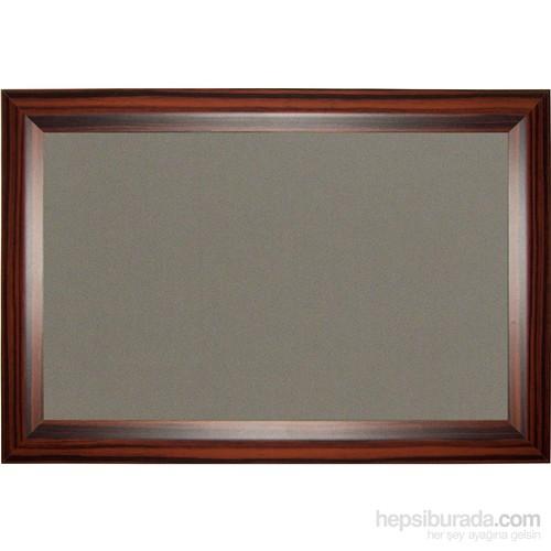 Akyazı 90x200 Geniş Ahşap Çerçeve Kumaşlı Pano (Gri)