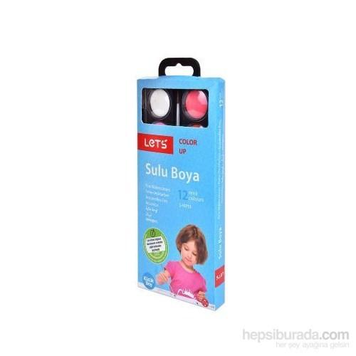 Lets 12 Renk Sulu Boya Küçük L-10713
