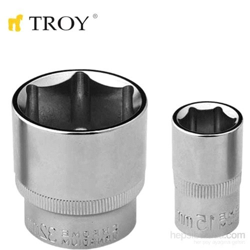 "Troy 26197 1/2"" Lokma (Ölçü 27Mm-Çap 27,8-Uzunluk 42Mm)"