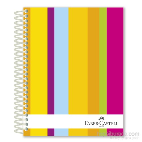Faber-Castell Sert Kapak Sep.3+1 Renkli Çizgiler Defter 120 Yaprak (5075400303)