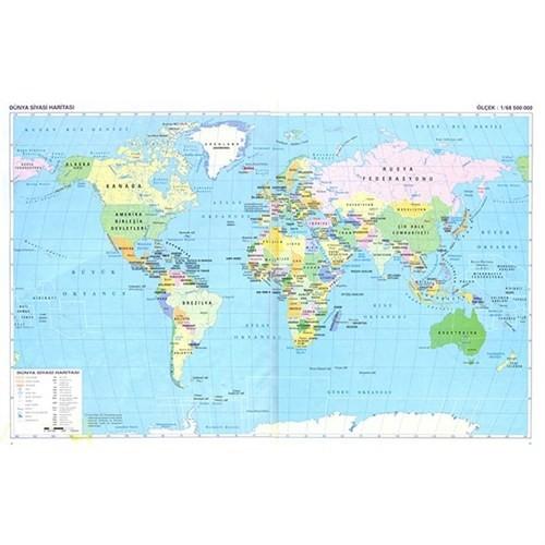 Dünya Siyasi Haritası 100X140 Gürbüz 22024