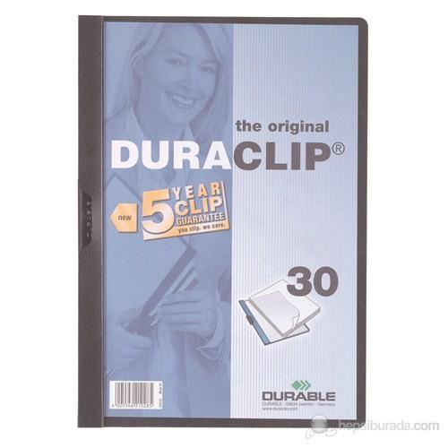 Durable Duraclip 30 Sayfa Kapasiteli Sıkıştırmalı Dosya (2200) Siyah