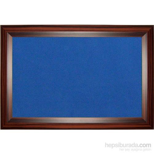Akyazı 60x120 Geniş Ahşap Çerçeve Renkli Pano (Mavi)