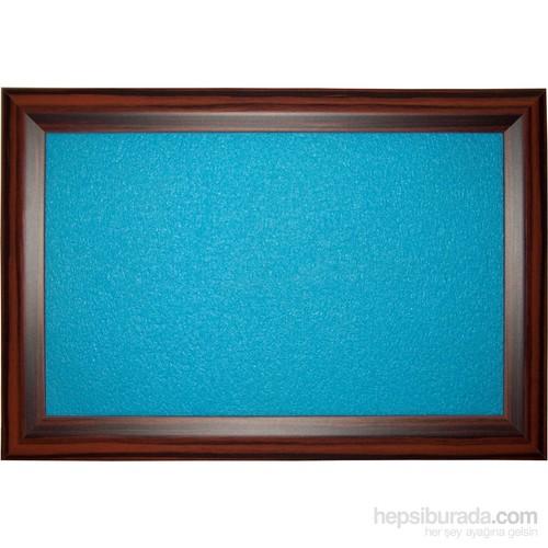 Akyazı 90x200 Geniş Ahşap Çerçeve Renkli Pano (Mavi)